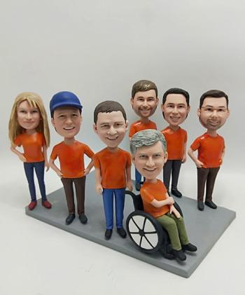 7 Custom Bobbleheads- Bulk order gift for team-Free Shipping