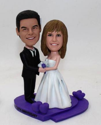 Custom wedding bobbleheads-My heart will go on