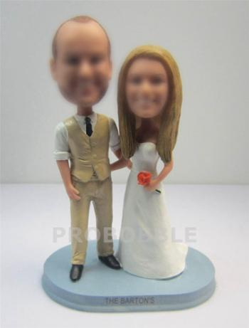 Wedding Gifts bobbleheads Cake topper