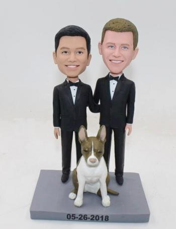 Custom gay wedding bobbleheads