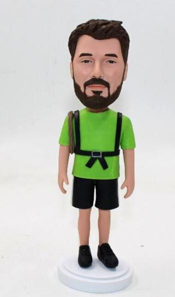 Rock climber custom bobblehead