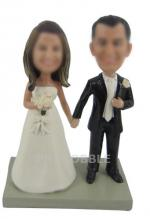 Wedding bobbleheads Cake topper