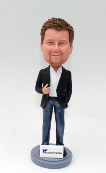 Personalized Businessman Bobbleheads