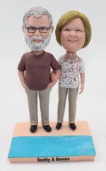 Best gift for parents- Old couple bobbleheads [C3191]