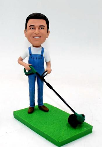 Custom bobblehead-with mower