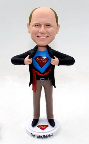 Personalized superman bobblehead for Boss