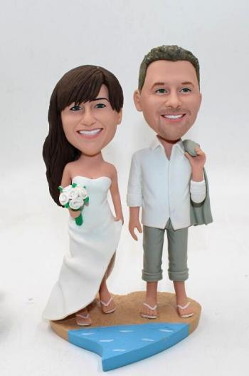 Wedding cake topper bobblehadas