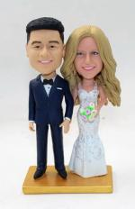 Wedding cake topper bobble heads
