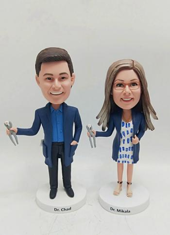 2 Custom Bobbleheads- Personalized fingure doll