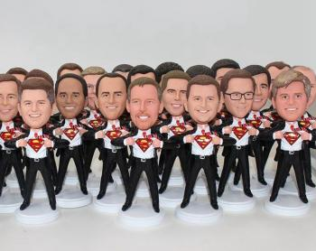100 Custom Bobbleheads Groupon Corporate Annual Meeting gifts
