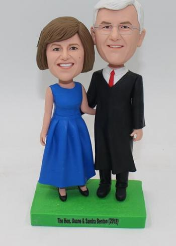 Custom couple bobblehead - groom Judge