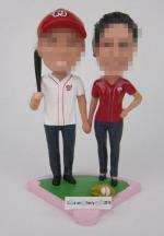 Custom baseball player Wedding Cake Toppers