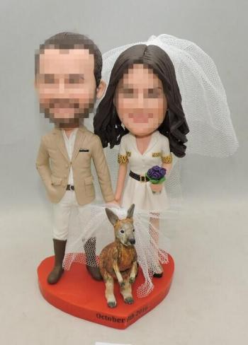 Custom safari theme wedding cake topper
