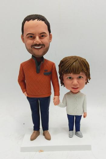 Father and Son custom bobble head