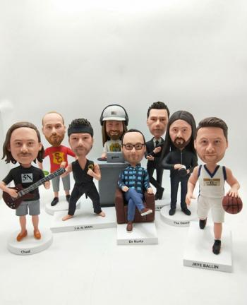 Personalized fully custom bobbleheads doll for different persons