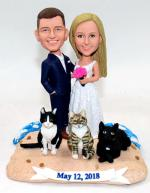 Wedding cake topper boobbleheads