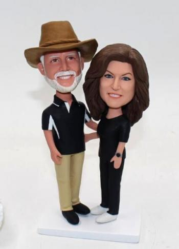 Couple custom bobbleheads