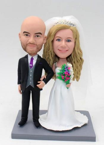 Wedding cake topper bobblehada
