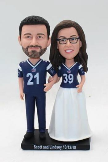 Personalized custom wedding bobble heads doll