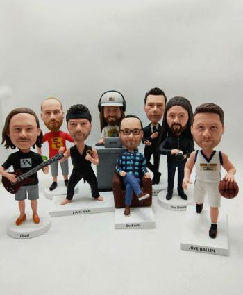 8 Custom Bobbleheads personalized gift for family-Free Shipping