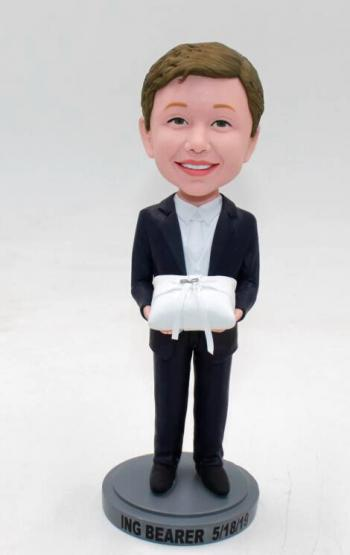 Custom bobble head doll-Ring Bearer
