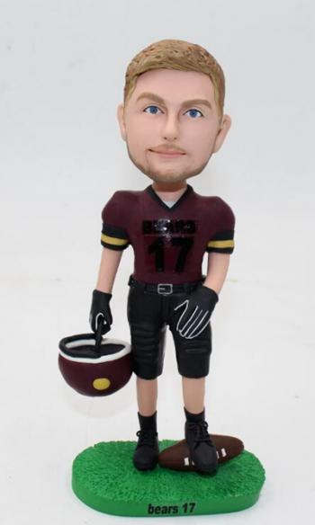 c44152195 Football Player Bobble head  C2792  -  63.99   Custom Bobblehead ...