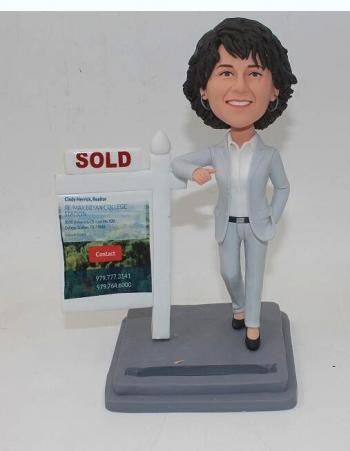Female Realtor bobbleheads-Best gifts