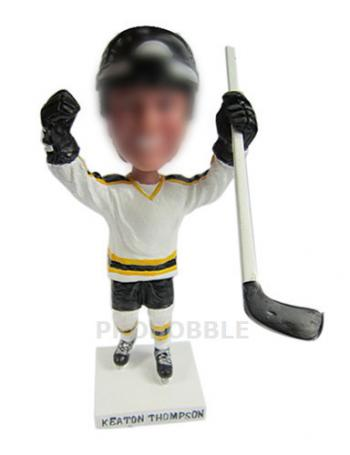 Hockey Playing Personalized Bobbleheads