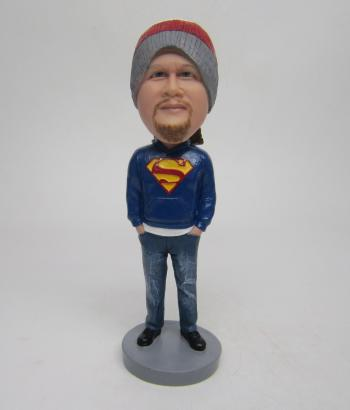 Custom Superman bobbleheads gifts for friend