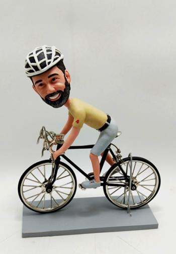 Personalised bobblehead doll-Bicycling