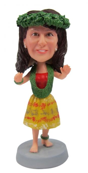 Custom hula girl bobbleheads