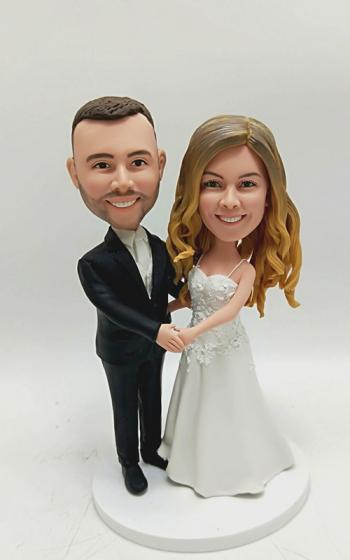 Custom bobblehead- cake topper