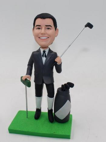Golfer bobbleheads golf doll for boss