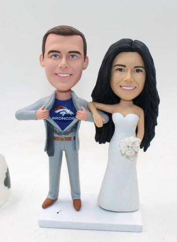 Personalized Custom wedding cake topper-groom superman