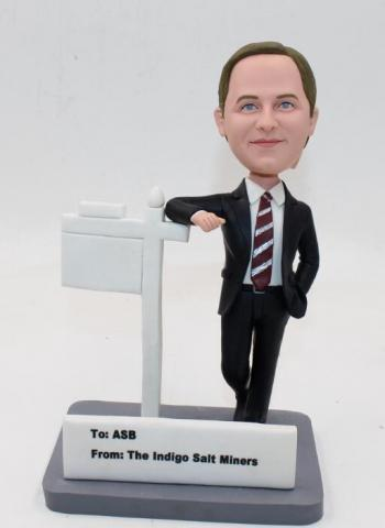 Bobbleheads with card holder gifts for salesman