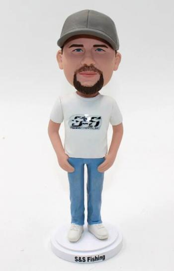 Personalised male bobblehead doll