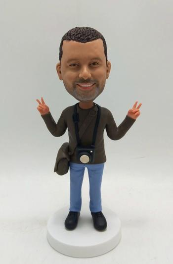 Personalized Bobbleheads Cameraman
