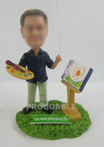 Personalized Bobbleheads Painter