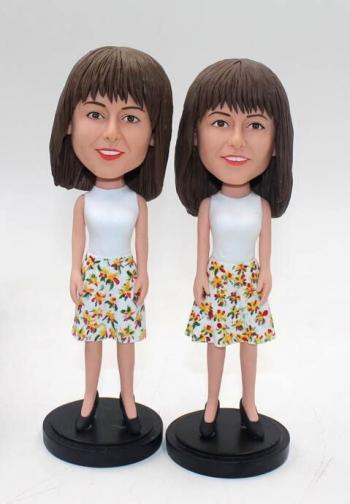 Custom bobbleheads- female in dress
