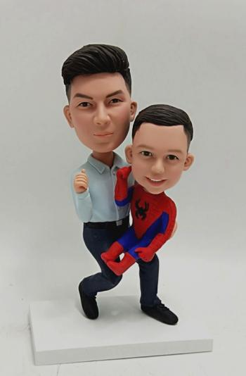 Bobbleheads-Father and child spiderman