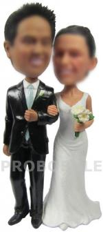 Personalized country wedding cake topper boobbleheads
