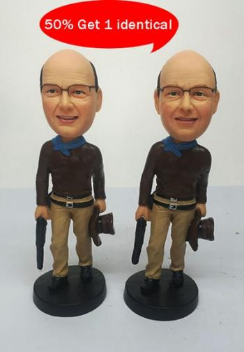 Personalized Bobbleheads - Cowboy with gun