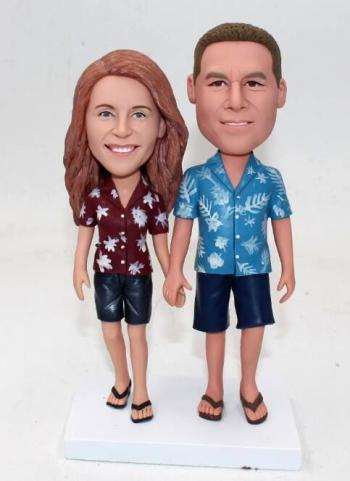 Custom bobbleheads- Summer Holiday cake toppers