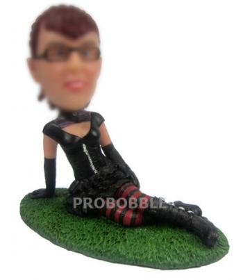 Custom girl bobble heads
