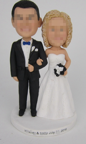 Custom wedding gifts cake toppers purple
