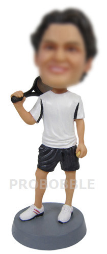Customized Male Tennis Bobbleheads