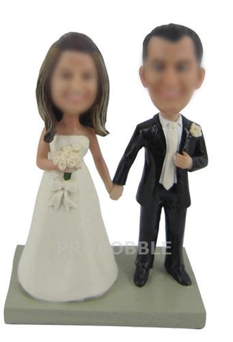 wedding bobbleheads cake topper 1194 custom bobblehead dolls and personalized cake. Black Bedroom Furniture Sets. Home Design Ideas