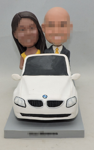 Custom wedding cake toppers in BMW Car