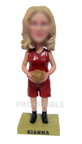 Personalized Female Basketball Player Bobbleheads