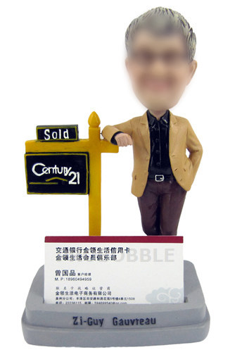 Gifts For Realtor Bobbleheads Card Holder